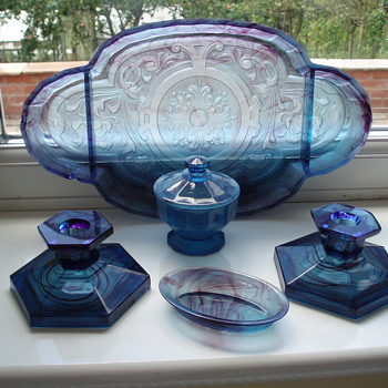 Davidson Blue Cloud Glass - Art Glass