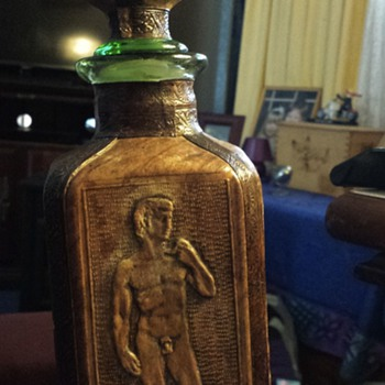 My op-shop find of the year! Mythic leather-covered bottle. - Bottles