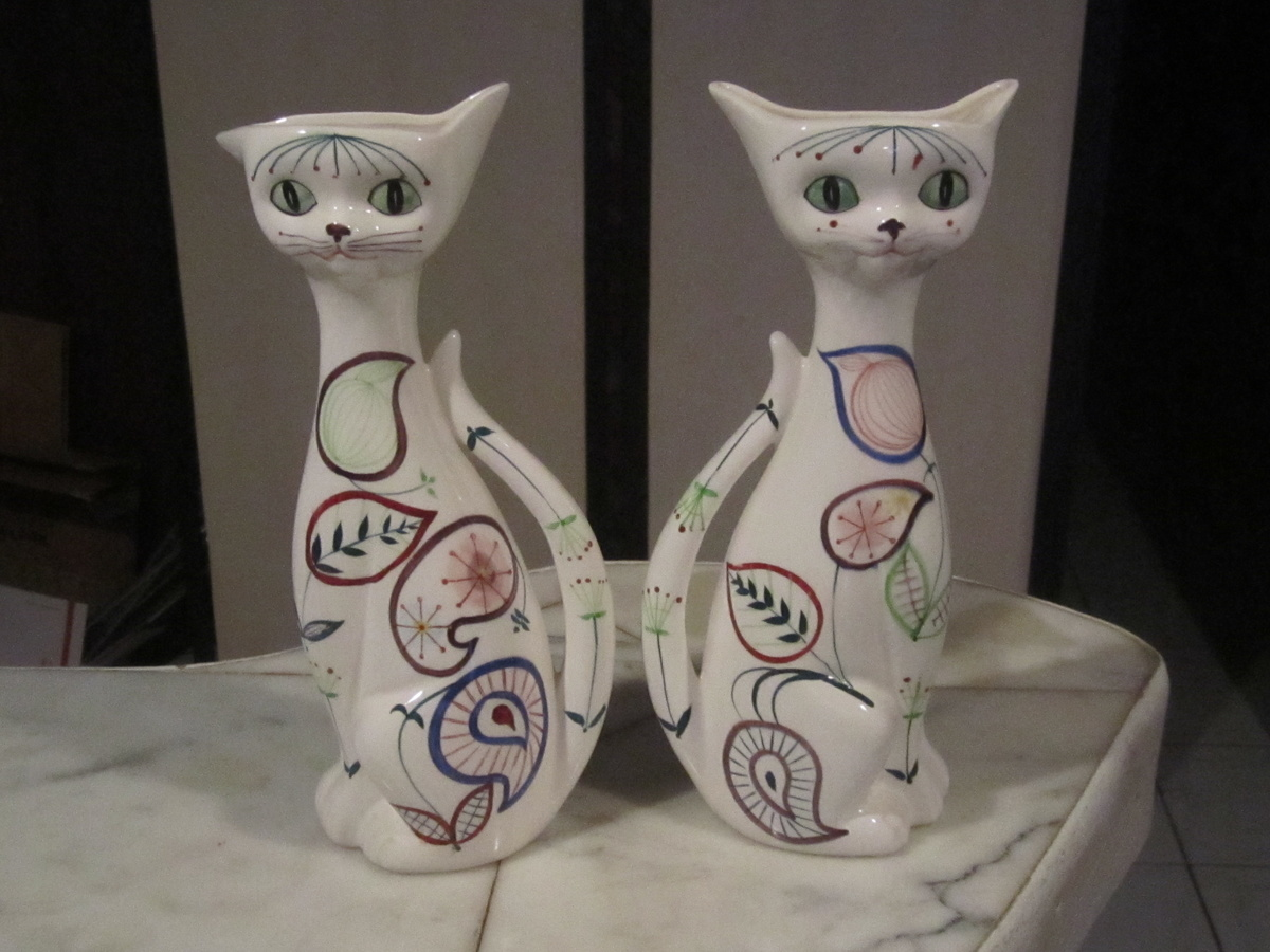 Lefton vintage 60s cat wall pocket planter collectors weekly reviewsmspy
