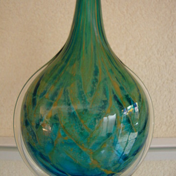 mdina glass art vase