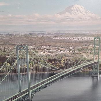 1950 Tacoma Narrows Bridge Photo by Harry R. Boersig - Photographs