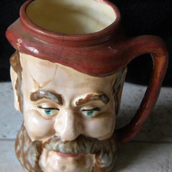 Handpainted Ceramic Mug With A Face