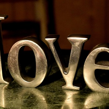 LOVE - letter sculpture - Fine Art
