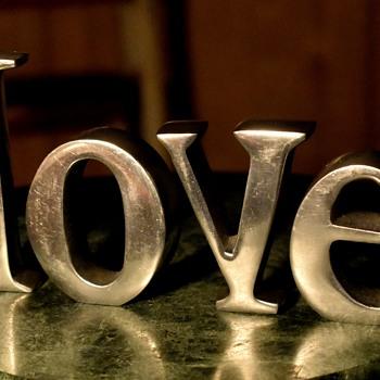 LOVE - letter sculpture