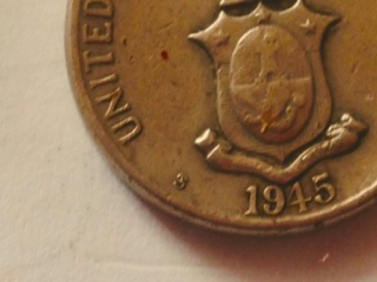 1945 S Philippines 5 Centavos San Francisco Mint WWII Coin