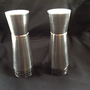 Stainless salt and pepper shakers