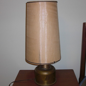 Trench art lamp date 1941 - Military and Wartime