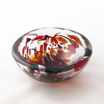 Per Lütken unika bowl (Holmegaard, 1978) - Art Glass