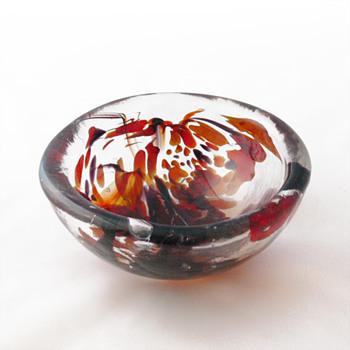 Per Lütken unika bowl (Holmegaard, 1978) - Art Glass