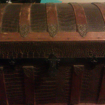 Antique Dome Top Trunk From 1800s - Furniture