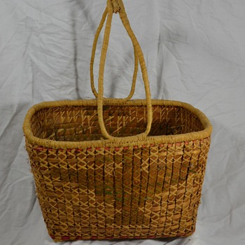 Native Basket of Bird with Handles - Native American
