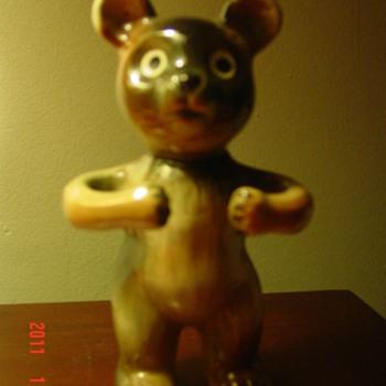 Teddy Bear Figure  - Pottery