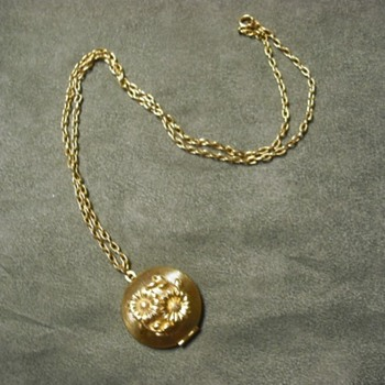 Odd Locket Containing Wax - Costume Jewelry