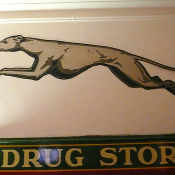Greyhound Bus Double Sided Greyhound Sign  - Signs