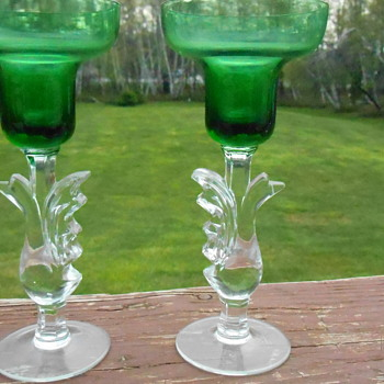Art Glass Candlesticks