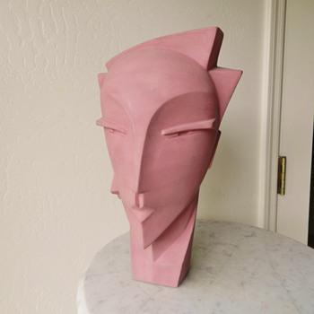 Art Deco Revival Lindsey Balkweill MYNG Mannequin Ceramic Bust Head - Fine Art