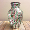 Glass Tile Mosaic Vase