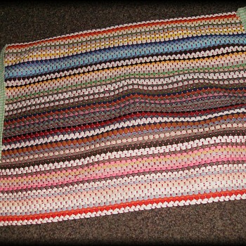 Vintage Braided Rug - Home made - Rugs and Textiles