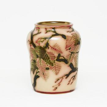 Large marble glaze L. Hjorth vase - Pottery