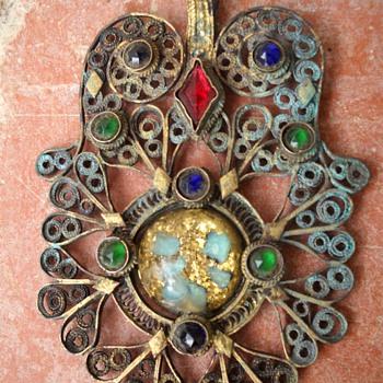 Fillagre Owl Pendant - Costume Jewelry