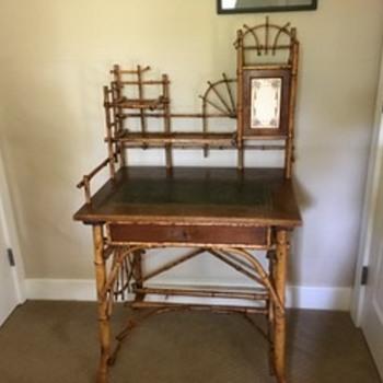 Antique Bamboo Desk - Furniture