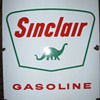 SINCLAIR GAS PUMP SIGN, PORCELAIN