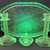 Walther Uranium  Glass Dressing Table Set - Poseiden