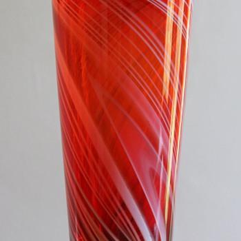 "Marti Glass Japan ""Red Line"" Vase - Art Glass"