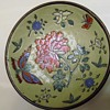 ANTIQUE CHINESE TONGZHI GLAZED PORCELAIN AND BRONZE PLATE