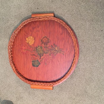 HandmadeVintage Wooden Tray dated 1940 on back