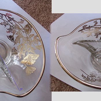 Help Needed to Identify This Divided Glass Decorative Dish - Glassware