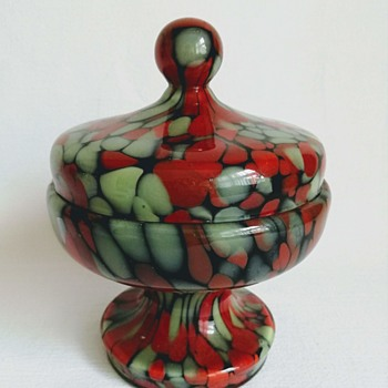 Welz Lidded Jar - Art Glass