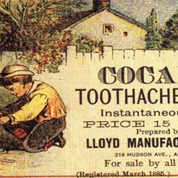 Old Ad For Toothache Drops  - Advertising