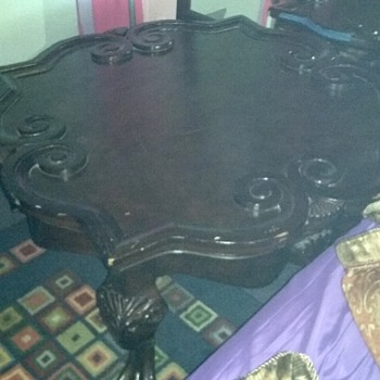 Carved wooden table