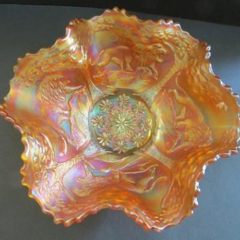 Fenton Carnival Glass - Lions Pattern - Glassware