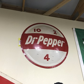 Dr Pepper button sign 10-2-4 - Advertising