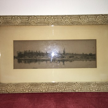 1889 Signed John H. Millspaugh Art Etching & Frame - Fine Art