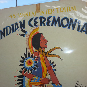 AN ORIGINAL AMERICAN INDIAN (Louie Ewing)  CEREMONAL POSTER