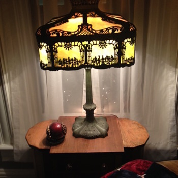 Miller Slag Glass Lamp - Lamps