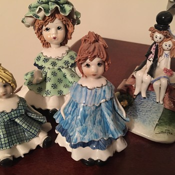 Zampiva italian pottery figures - Figurines