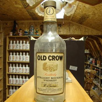 Vintage Old Crow 1/2 Gallon Bottle........