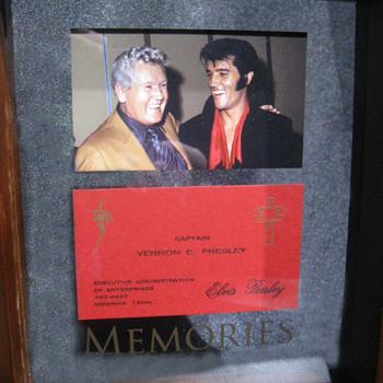 Vernon Presley  .  .  .  Business Card - Music Memorabilia
