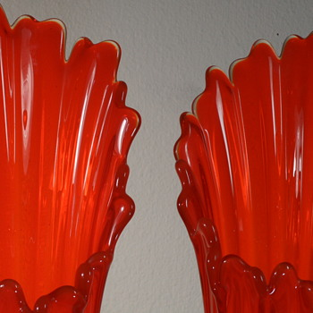 "Fostoria 20"" Vases - Heirloom - Bittersweet - Art Glass"