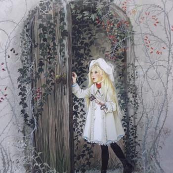 Anne Grahame Johnstone artwork - Mary Finds the Secret Garden - Fine Art