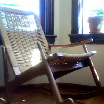 Wegner-Style Rocker (arm missing) - Furniture
