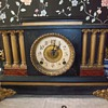 Antique dual key Mantle Chiming Clock