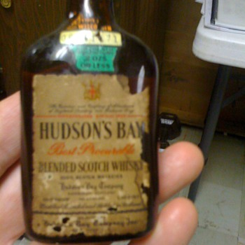 1/10 pint Hudson Bay Scotch unopened - Bottles