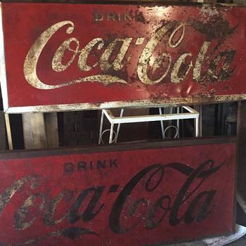 Vintage 2'x5' metal coca cola signs - Coca-Cola