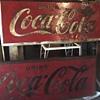 Vintage 2'x5' metal coca cola signs