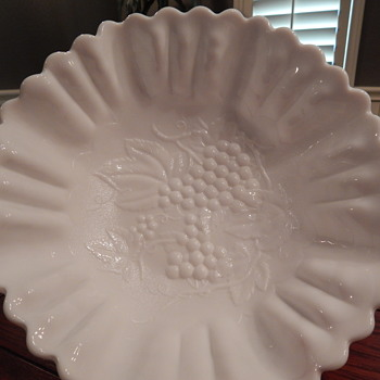 Imperial milk glass bowls